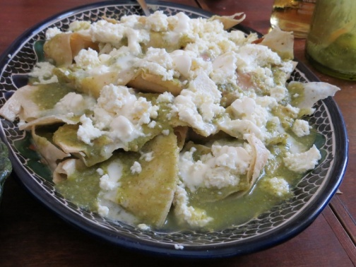 Chilaquiles Made During Class at  Casa Crespo  Photo Credit: Lola's Cocina
