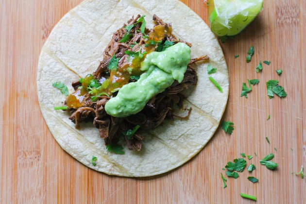 Barbacoa Taco by Flan and Apple Pie