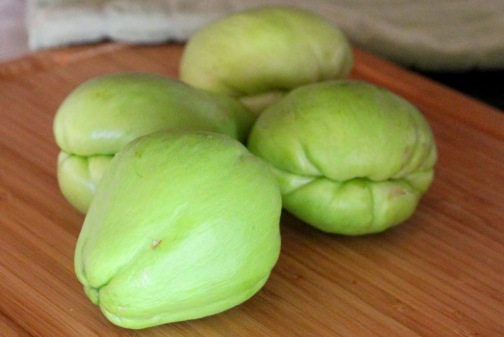 raw chayote fruit
