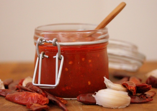 Spicy Red Salsa With Chile Japones Salsa Roja Con Chile Japones Lola S Cocina