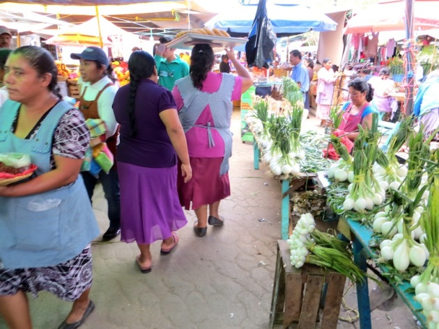 Hustle and bustle of Zaachila's Thursday market day, Photo credit: Lola's Cocina