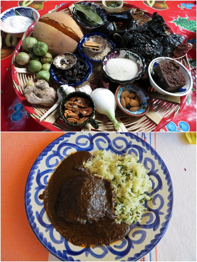mole-negro-ingredients-and-dish