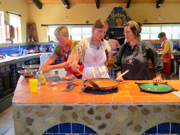 Cooking alongside Chef Susana Trilling of Seasons of My Heart, Photo credit: Lola's Cocina