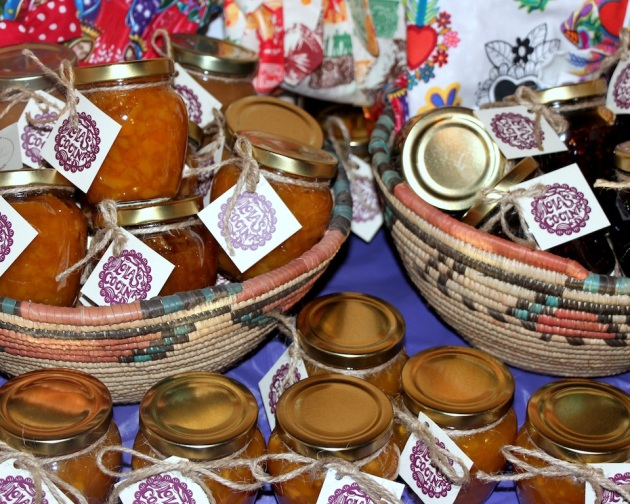Artisan salsas and preserves by Lola's Cocina.