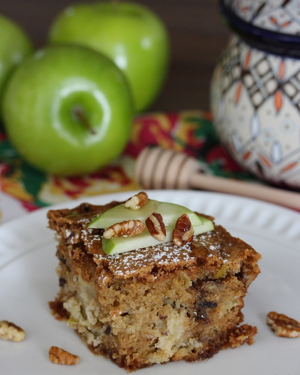 apple bread slice vertical