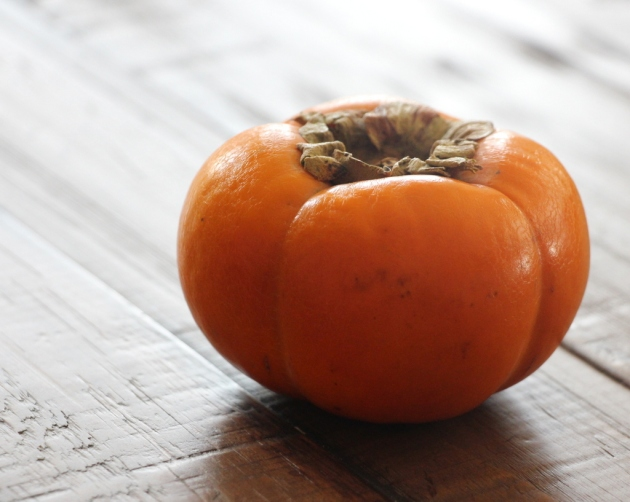 Fuyu persimmons can be eaten hard like an apple and work well in this recipe!