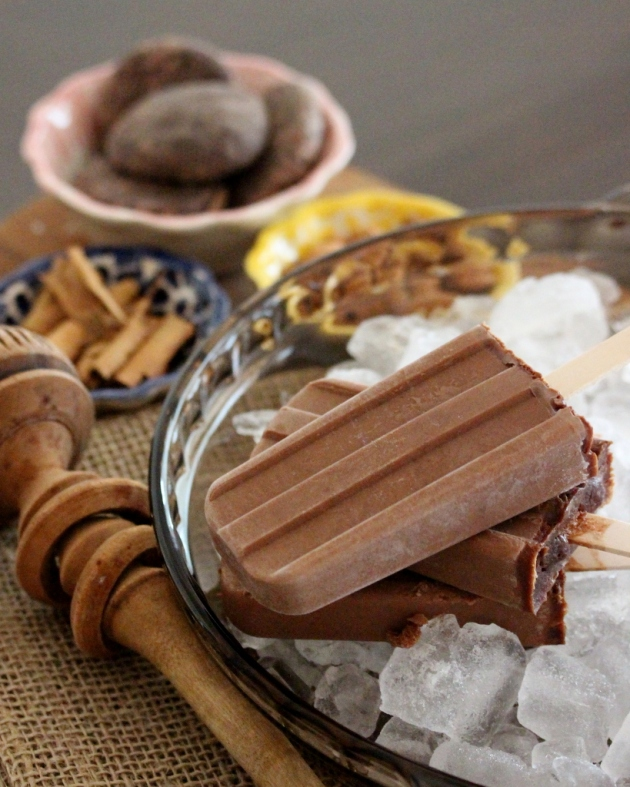 Mexican chocolate popsicles | Lola's Cocina