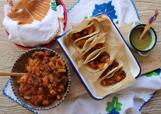 how to make carne con papas mexican style